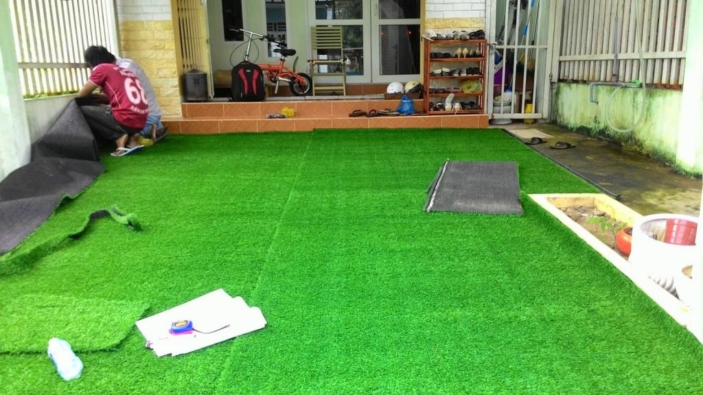 thi công thảm cỏ nhân tạo